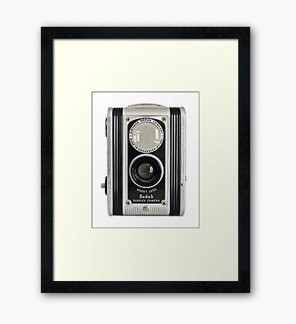 Kodak Duaflex Vintage Camera Framed Print
