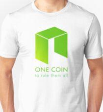 NEO: Eine Münze, um sie alle zu beherrschen Slim Fit T-Shirt