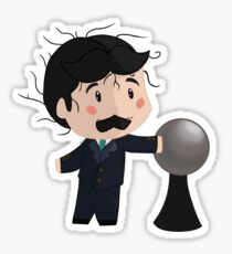 Tesla: Hairs up! Sticker