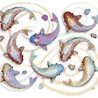 Lavender Koi by Karin Taylor