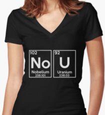 No U Shirt - Ur mom Gay meme, Nobelium Uranium Shirt Women's Fitted V-Neck T-Shirt