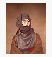 Girl in winter costume, Meiji Period, Japan Photographic Print