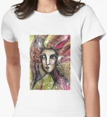She thinks she was a bird in a past life... Womens Fitted T-Shirt