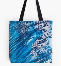 Watercolor with words Tote Bag