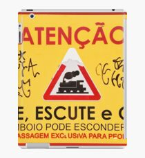 Train Crossing Sign, From Lisbon iPad Case/Skin