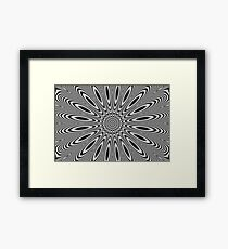 Optical illusion - Pulsar  Framed Print