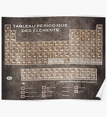 Tableau Periodiques Periodic Table Of The Elements Vintage Chart Science Poster