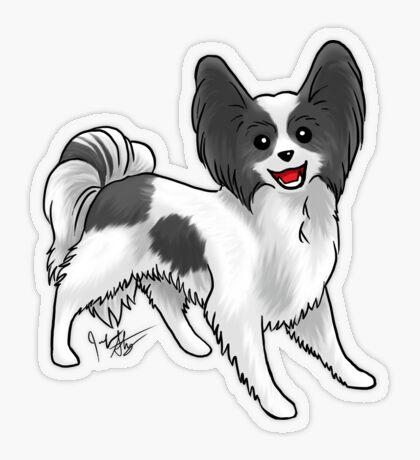 Papillon Transparent Sticker