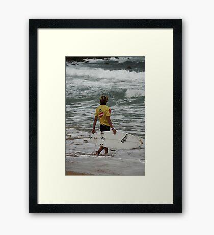 Junior Surfing Titles, NSW - Werrie Beach #1 Framed Print