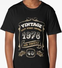 40th Birthday Gift Gold Vintage 1978 Aged Perfectly Long T-Shirt