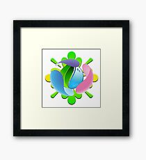 ecology abstract Framed Print