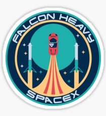 FALCON HEAVY SPACEX PATCH Sticker