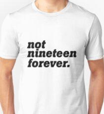Courteeners - Not Nineteen Forever Unisex T-Shirt