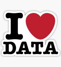 I Heart Data Sticker