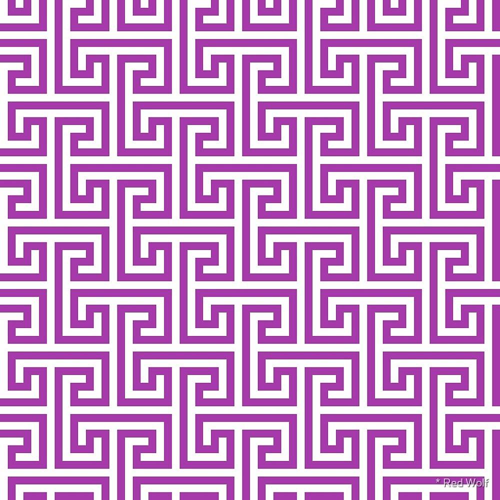 Geometric Pattern: Key Bridge Interlock Negative: Purple by * Red Wolf