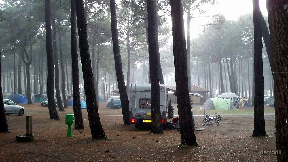 A rainy day in the camping by daffodil