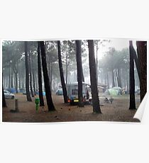 A rainy day in the camping Poster