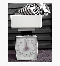 Weighed on the Scales Photographic Print