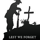 Lest we Forget - War - Grave by iancoate