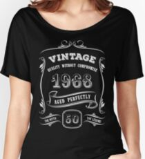 Vintage 1968 - 50th Birthday Gift Idea Women's Relaxed Fit T-Shirt