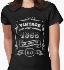 Vintage 1968 - 50th Birthday Gift Idea Women's Fitted T-Shirt