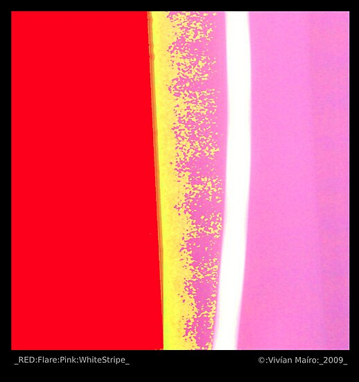 _RED:Flare:Pink:WhiteStripe_ by Vivian V  Mairo