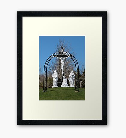 St Georges Nova Scotia Framed Print