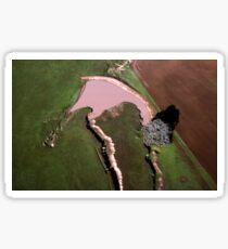 Benalla Landscape : aerial photograph Sticker