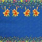 Denim Lookalike Jeans with Flower by Gotcha29