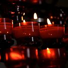 Red Votive Candles by StarVia