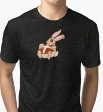 Hot Cross Bunnies - Navy Tri-blend T-Shirt