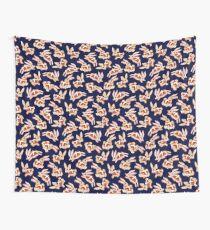 Hot Cross Bunnies - Navy Wall Tapestry