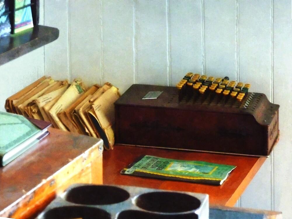 Old Fashioned Adding Machine by Susan Savad