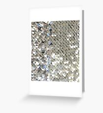 Sparkly Silver Sequins Greeting Card