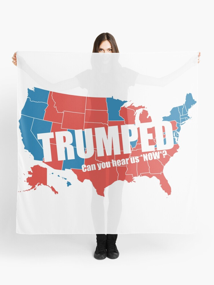 Map Of America Voting.Trumped 2016 Elections Usa Electoral Map Vote Maga Make America Great Again Hd High Quality Online Store Scarf