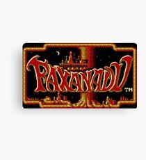Faxanadu - NES Title Screen Canvas Print