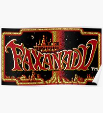 Faxanadu - NES Title Screen Poster