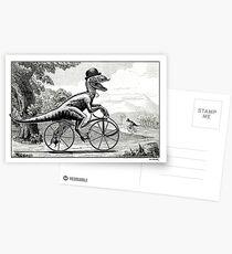 Velociraptor on a Velocipede Postcards