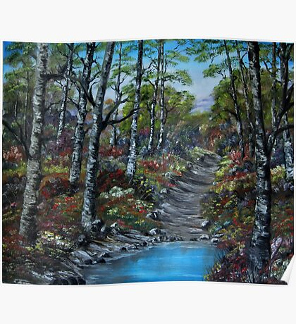 """Blooming Forest"" - oil painting Poster"