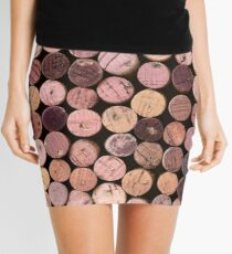 Red Wine Cork Pattern Mini Skirt