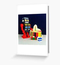 Robot Birthday Greeting Card