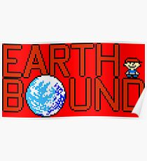 Earth Bound - NES Title Screen Poster