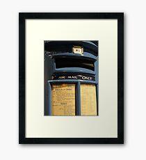 Blue! Airmail Pillar Box Framed Print