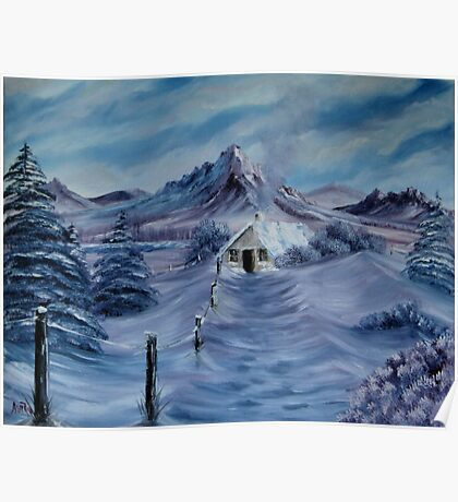 """Lilac Snow"" - oil painting Poster"