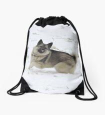 Snow Kisses Drawstring Bag