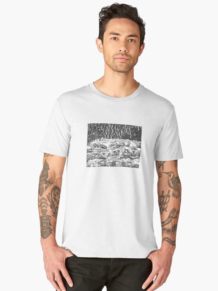 Aysgarth Falls Men's Premium T-Shirt Front