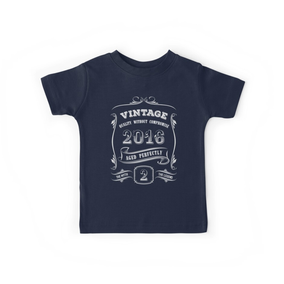 Two Year Old Boy Birthday Shirt 2nd T