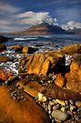 Elgol Seashore, and the Cuillin Mountains, Isle of Skye, Scotland. by PhotosEcosse