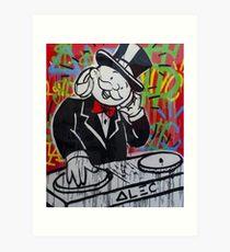 DJ Rich Uncle Pennybags Art Print