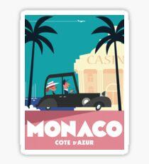 Pegatina Cartel de viaje de Mónaco